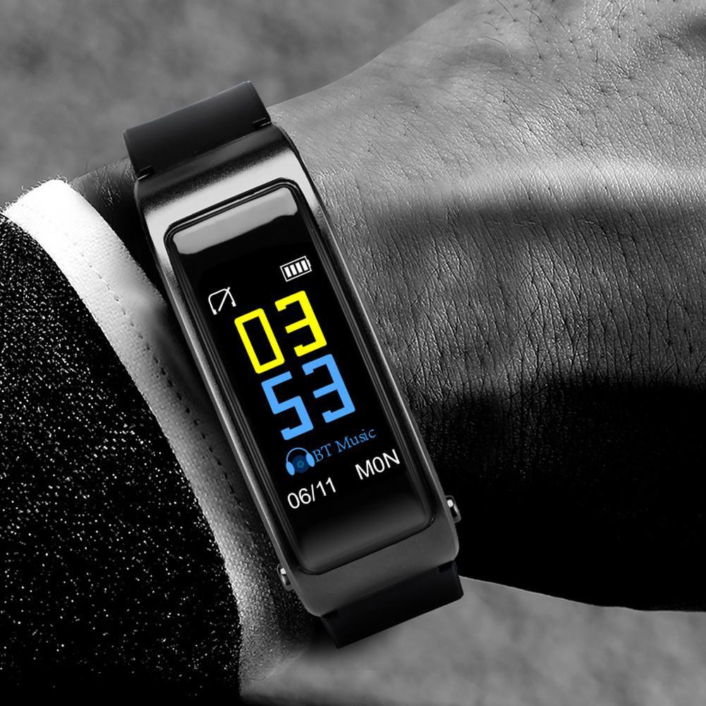 Y3 Plus Bluetooth Heart Rate Sleep Monitor Pedometer Fitness Smart Bracelet