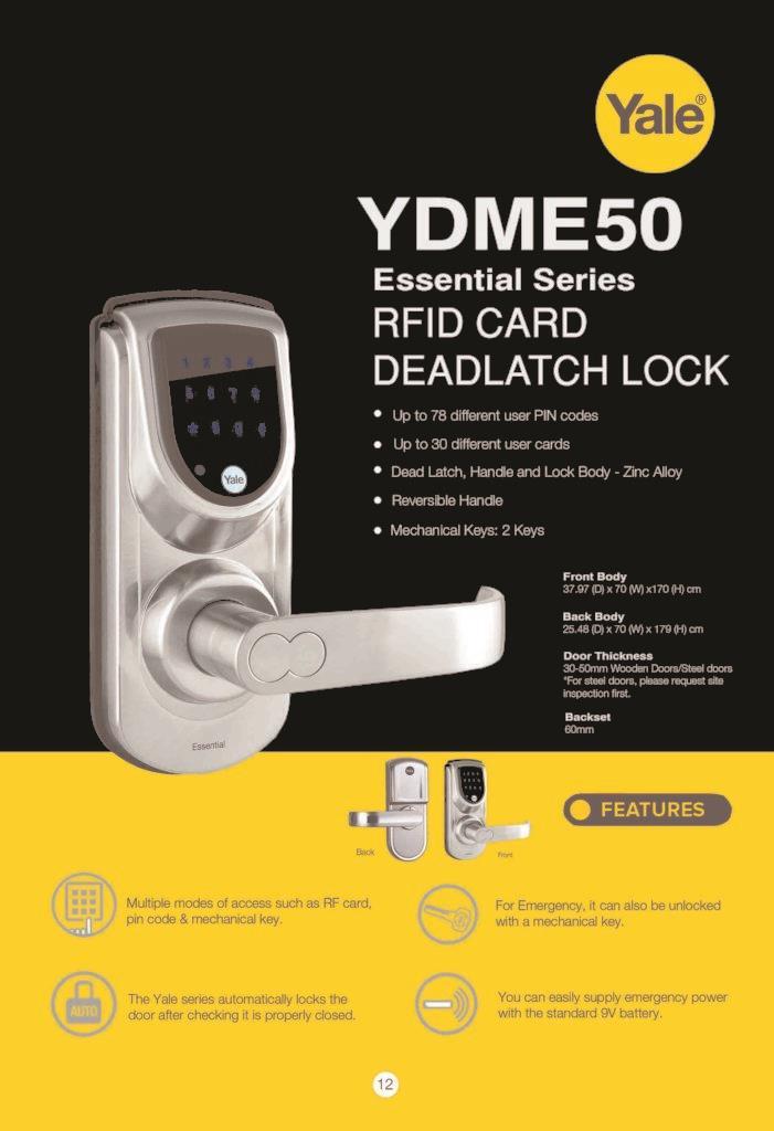 Yale Digital Door Lock YDME50 (end 9/28/2018 12:38 PM) on