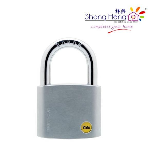 Yale Silver Series Outdoor Brass / Satin Padlock (Baron Shackle) 60mm