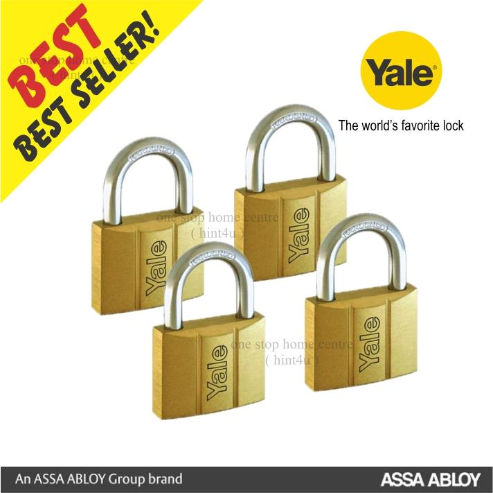 YALE Y140/40/4 Series Brass Padlock 40mm