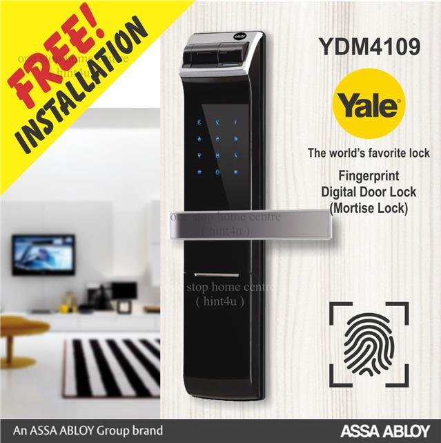YALE YDM 4109 Fingerprint pin key Digital Door Lock. ‹ ›