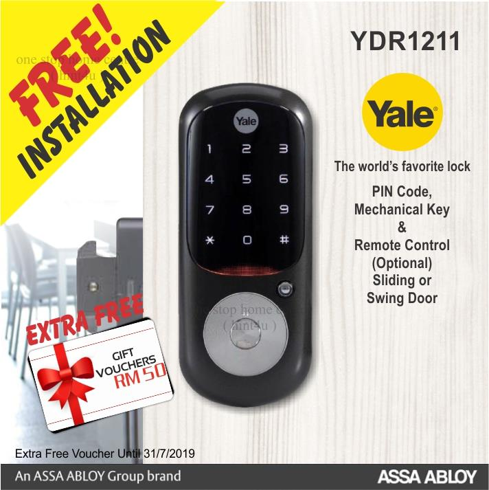 Yale YDR 1211 pin key Digital Door L (end 3/19/2020 8:47 PM) Yale Wooden Door Locks on