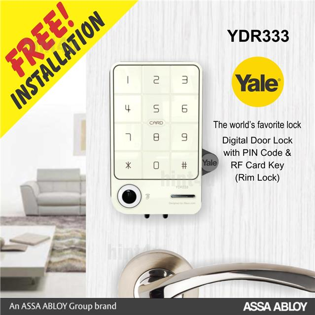 YALE YDR 333 DIGITAL RIM DOOR LOCK  sc 1 st  Lelong.my & YALE YDR 333 DIGITAL RIM DOOR LOCK (end 10/2/2018 6:15 AM)
