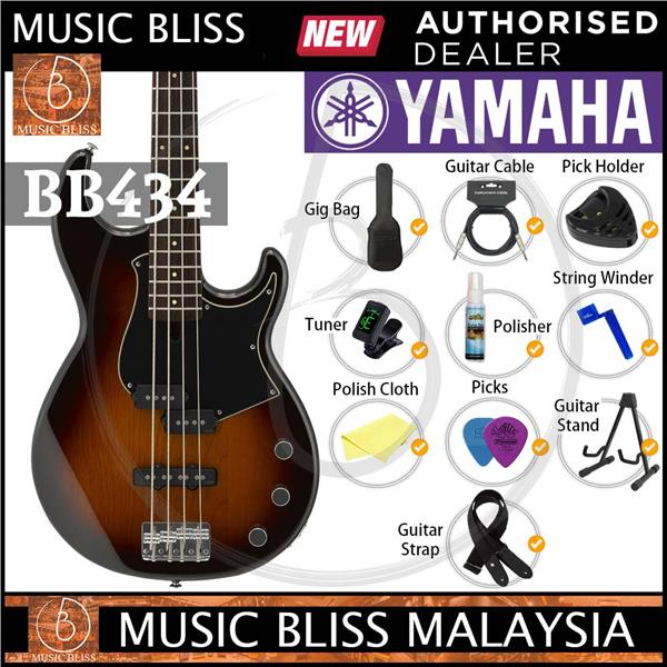 Yamaha BB434 4-string Electric Bass Guitar - Tobacco Brown Sunburst