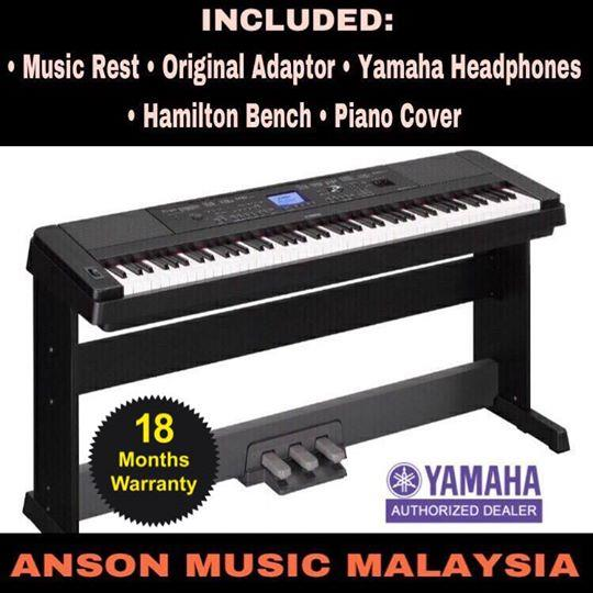 Yamaha DGX-660 Portable Grand Digital Piano, Black
