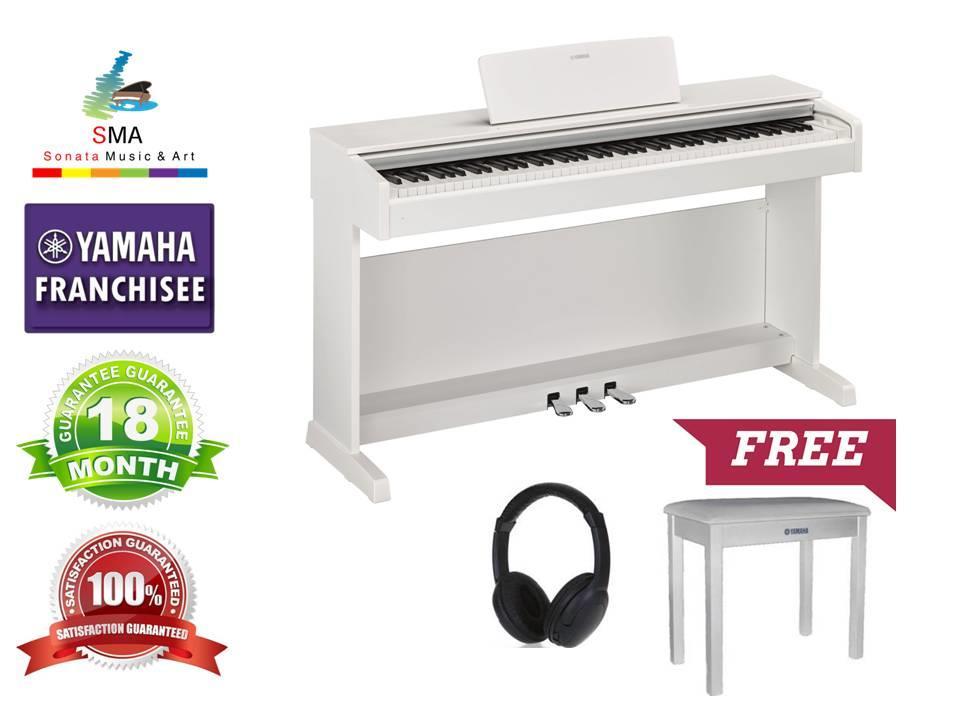 yamaha arius. yamaha digital piano arius ydp143 wh ydp-143 white with free items