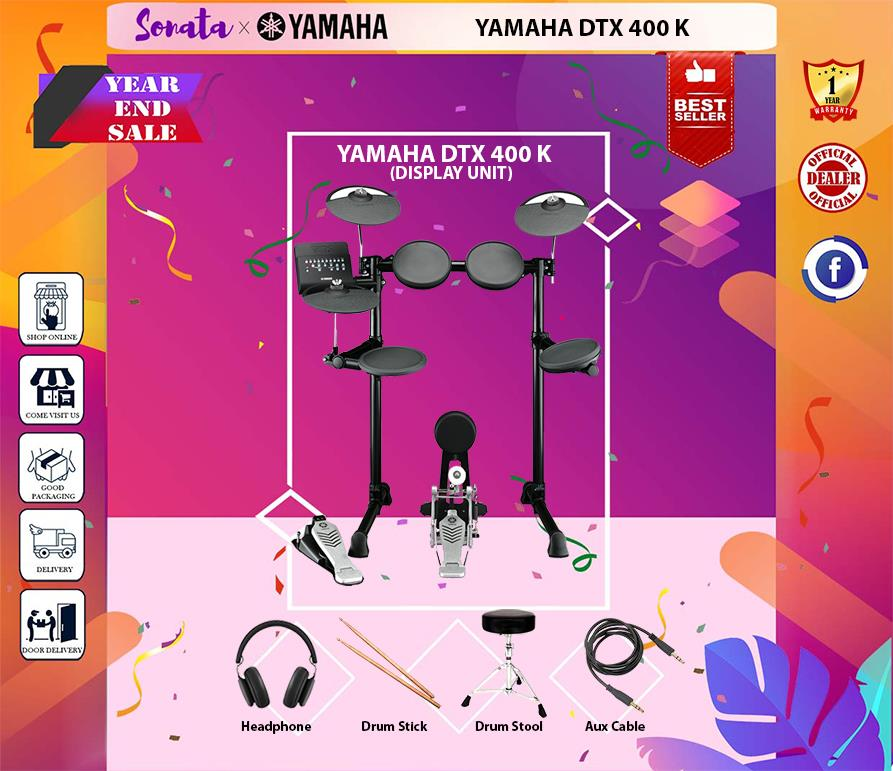 YAMAHA DTX-400K DIGITAL DRUM KIT (DTX 400 / DTX400K)