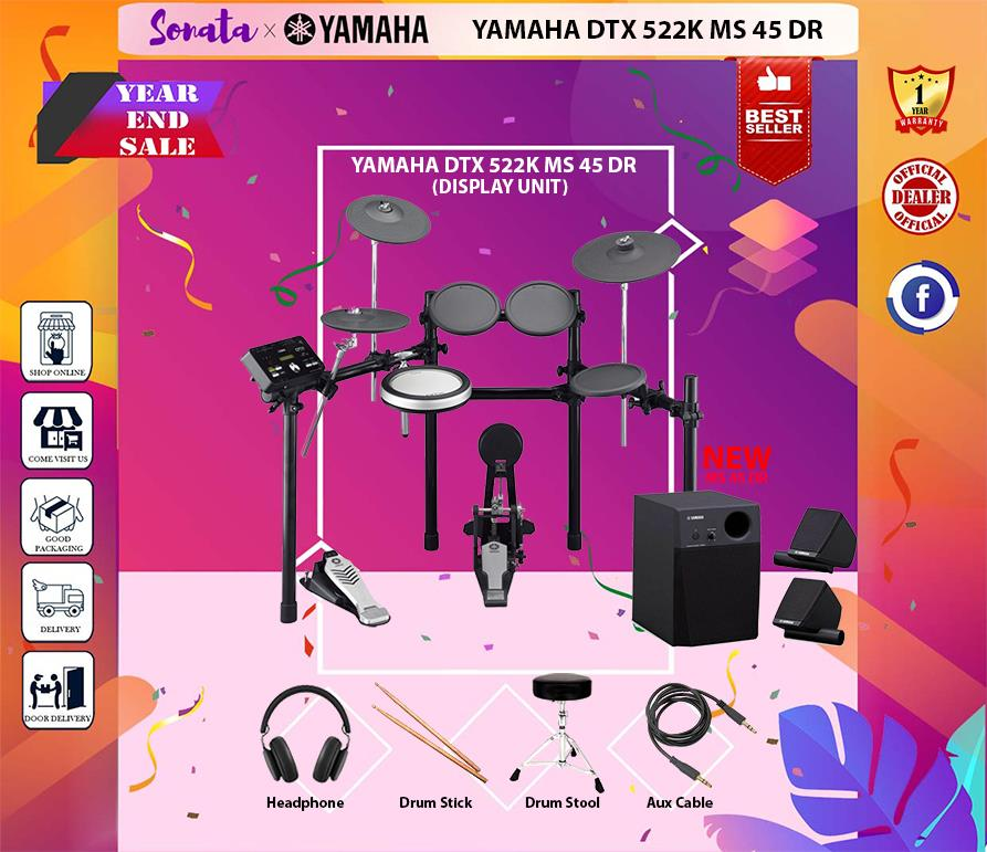 YAMAHA DTX-522K DIGITAL DRUM KIT WITH MS 45 DR  (DTX 522 / DTX522K) W