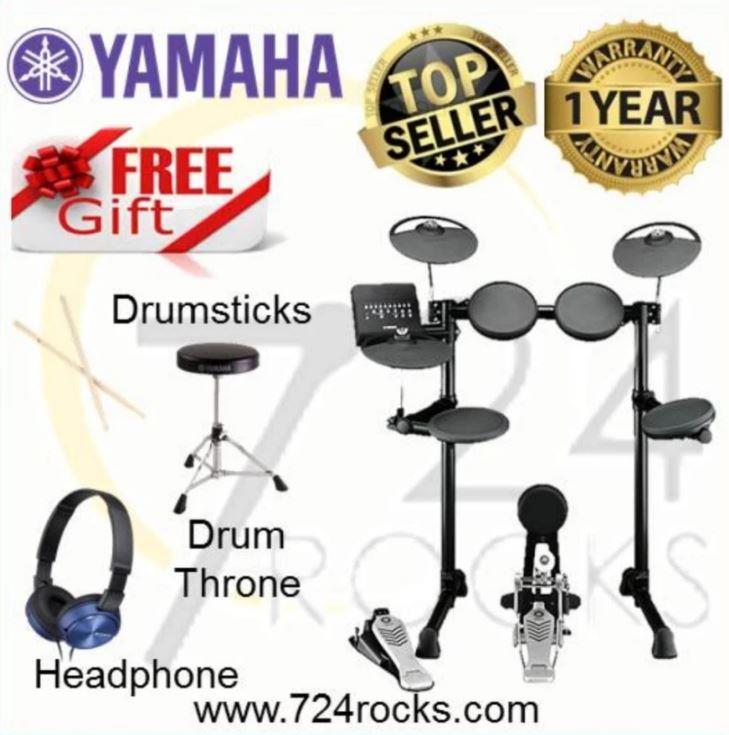 Yamaha DTX450K Electronic Drum Kit Free Drum Throne, Headphone & Drums