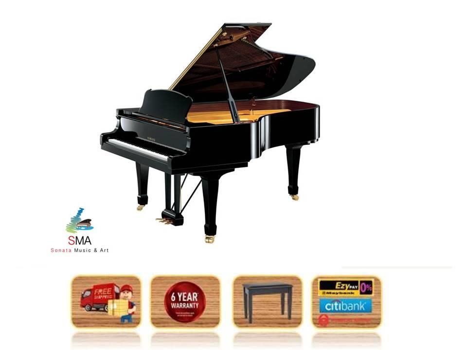 yamaha grand piano. yamaha grand piano s6 s 6 s-6 pe polished black