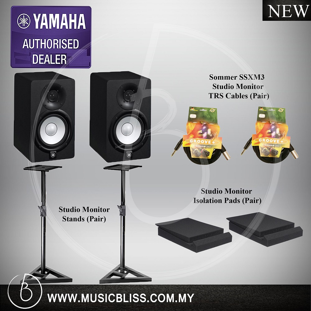 Yamaha Hs5 Studio Monitor Pair W End 11 12 2020 1106 Am Powered With Two Stands Cables And Pads