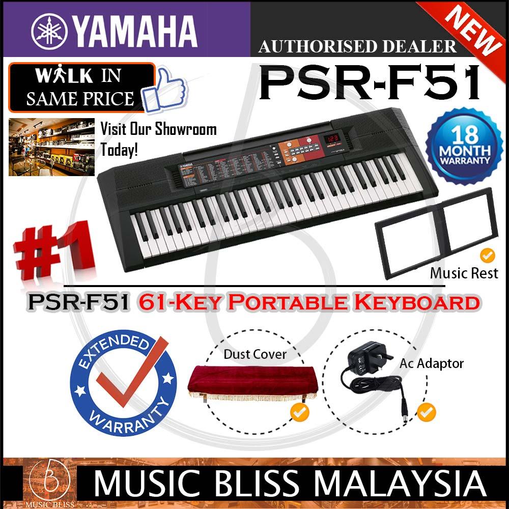 Yamaha Keyboards Psr F51 61 Key Keyboard Wcover Crazy Sales