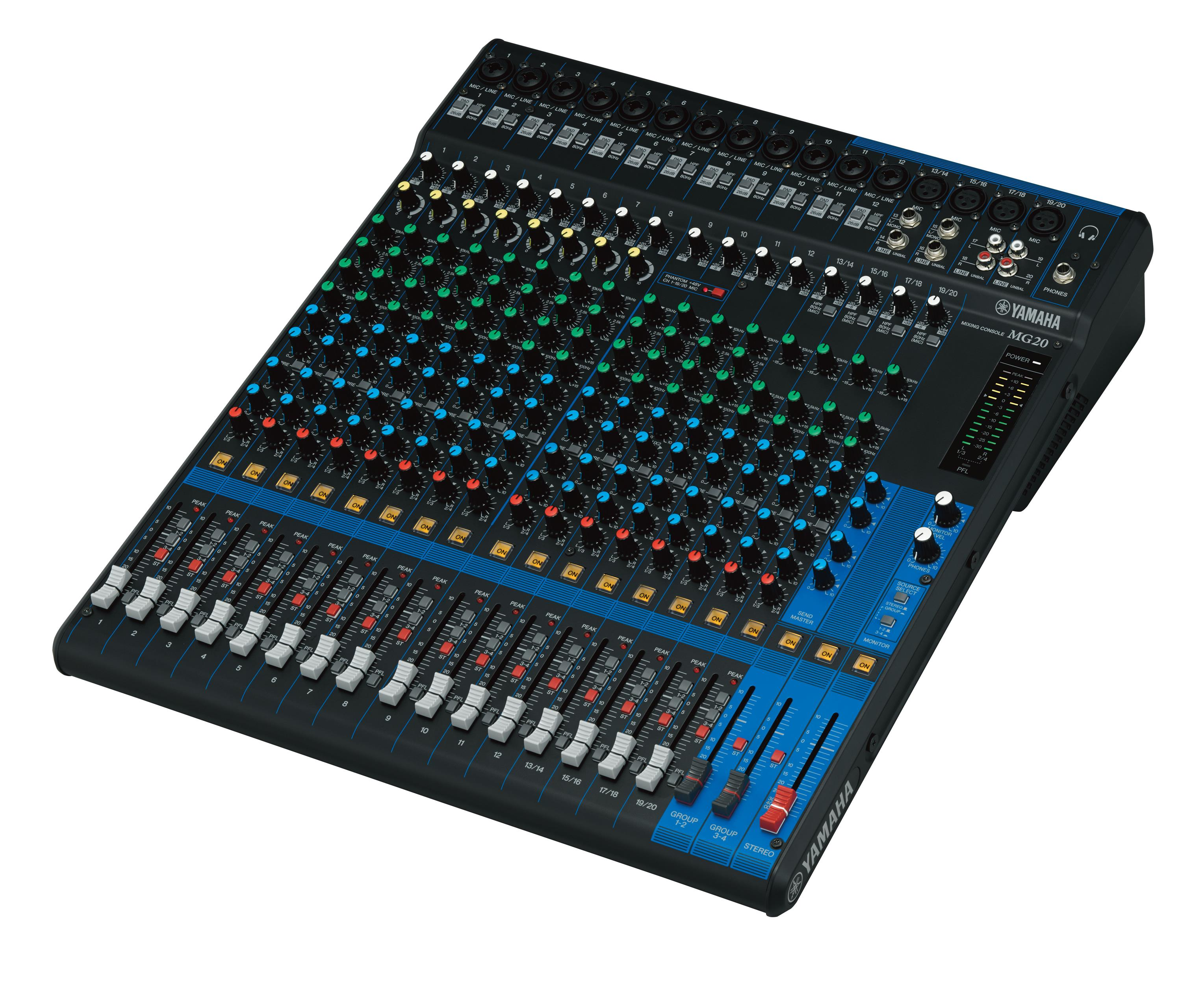 YAMAHA MG20 20-CHANNEL MIXING CONSOLE (MG-20/MG 20)