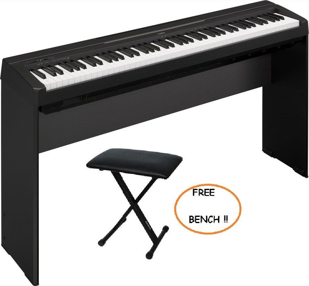 yamaha 88 key digital piano. yamaha p35 88-key digital piano \u0026 free bench (free shipping malaysia) 88 key