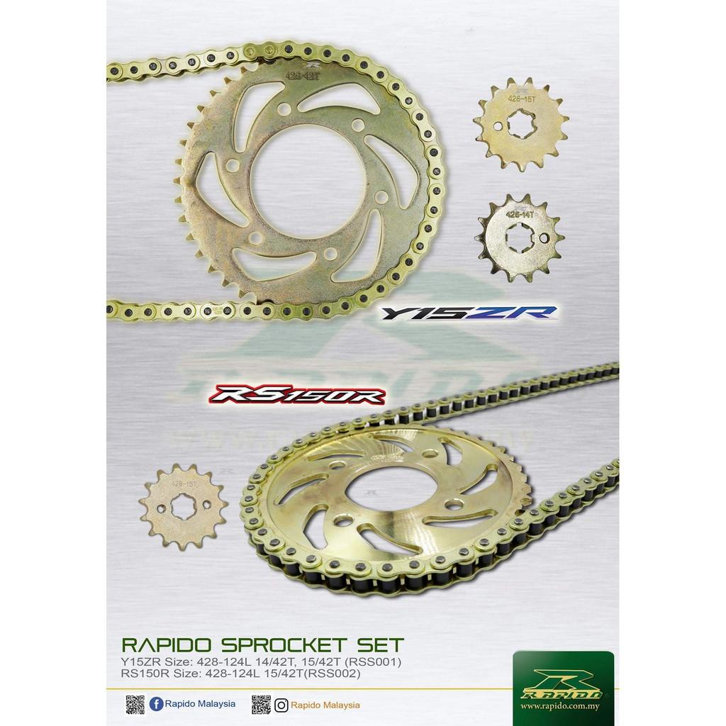 Yamaha Y15ZR Honda RS150R Sprocket Set O-Ring