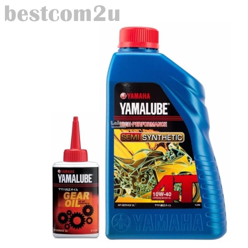 YAMALUBE 4T Semi Synthetic Motor Oil 10W-40 1L + Gear Oil 4T-AT. ‹ ›