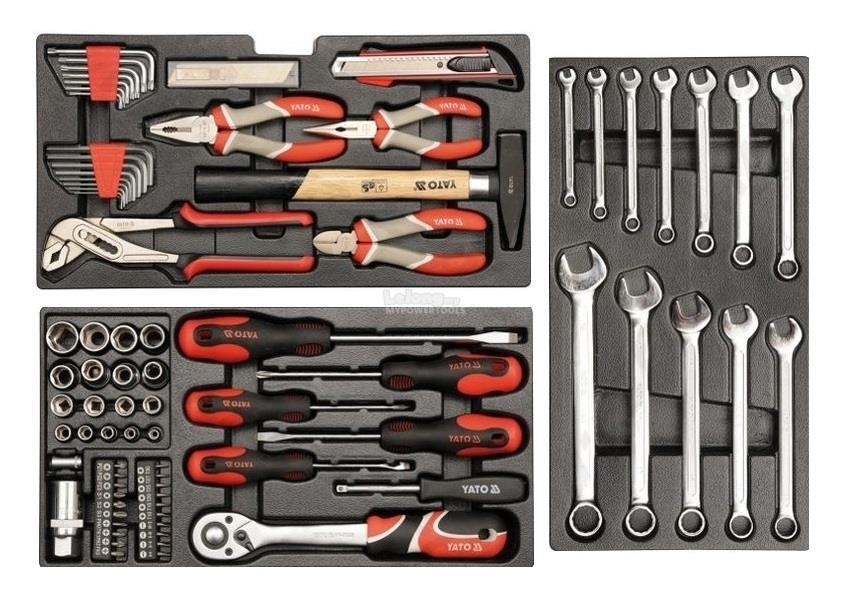 Yato Professional Tool Box with 80pcs Tools Kit Set