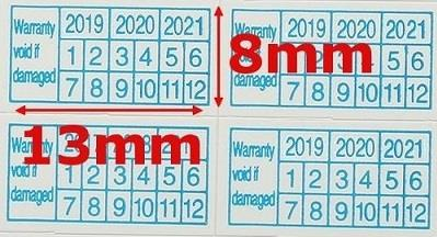 Year 2019 2020 2021 Void Warranty Label Sticker (450pcs)