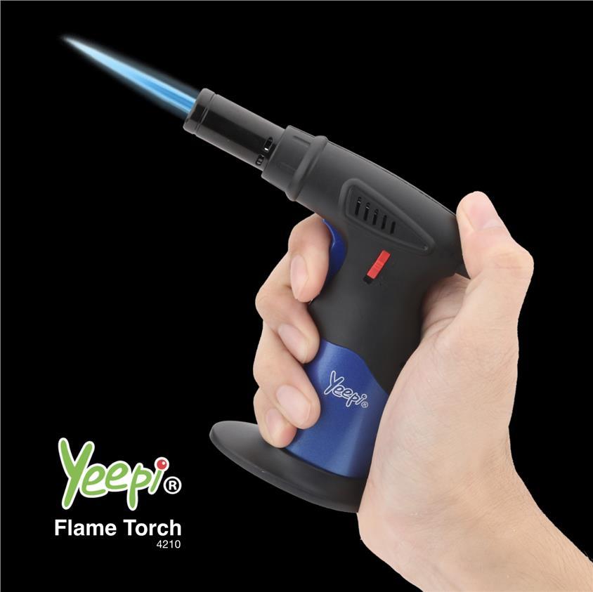 Yeepi Flame Torch 4210 Jet Flame Butane Torch Lighter Refillable Windp