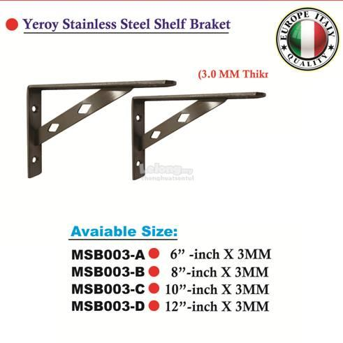 "YEROY Stainless Steel Shelf Braket 8""inch"