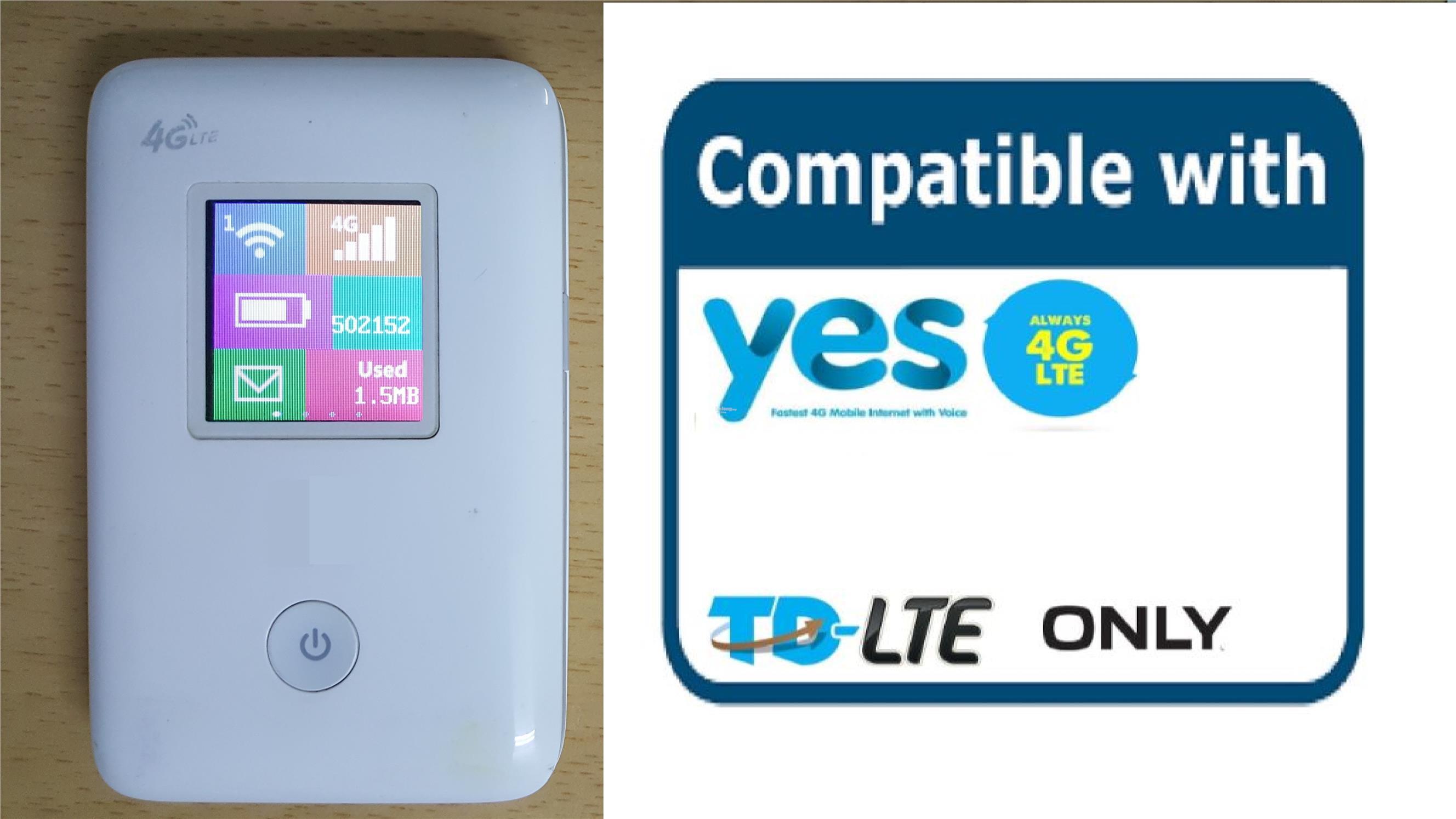 Yes 4G LTE Modem WiFi - LCD