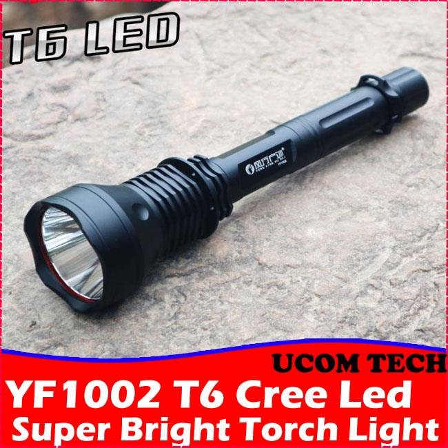 YF1002 T6 Super Bright Torch Light Double Battery Torchlight