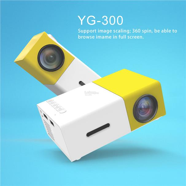 YG300Portable LED Projector support PC Laptop USB Stick USB/SD/AV/HDMI