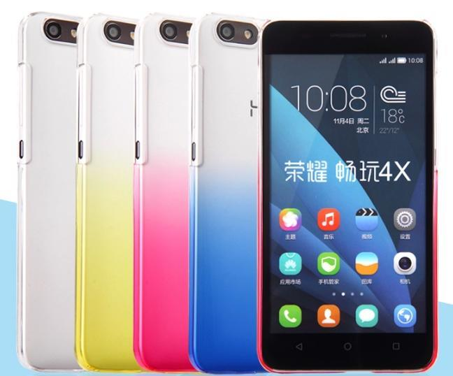 YIUS Huawei Honor 4X Colorful Transparent Back Case Cover + Free SP