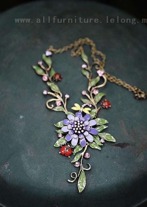 YN-4442	Retro Beauty Fresh Oz Necklace  复古唯&#3265..