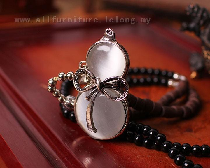 YN-6518	Cat gourd long section necklace  猫眼葫Ŏ..