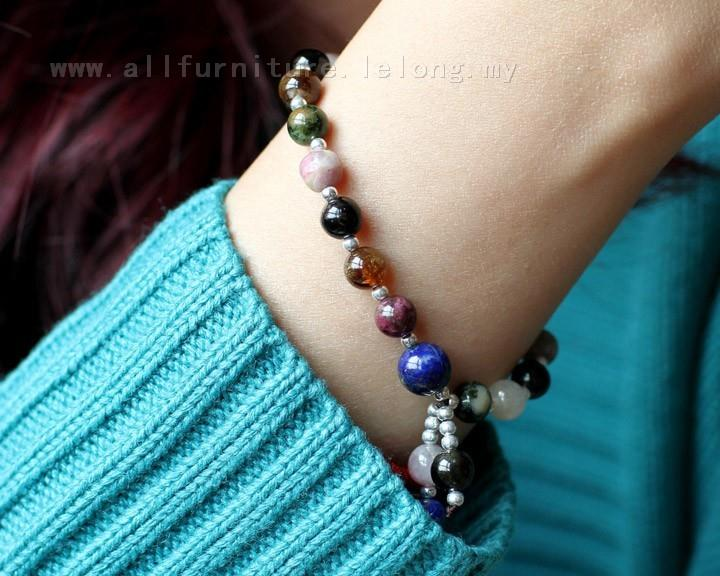 YN-7511	Natural high quality tourmaline mix bracelets women's natural