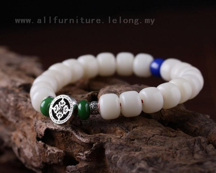 YN-7523	Beautiful cross disc white Bodhi Bead Bracelet male section