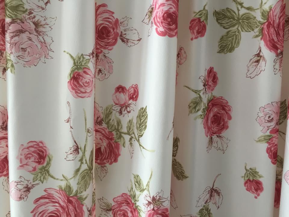 Yobeco Curtain English Rose Printing (end 6/19/2016 2:15 PM)