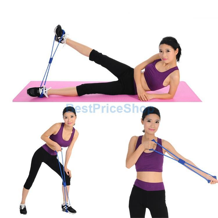 Yoga Resistance Bands Tube Fitness Mu (end 3/4/2021 3:13 PM