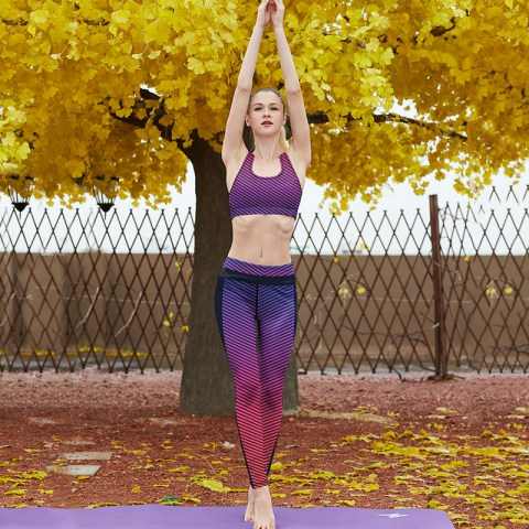 Yoga Suit Vest Legging And Top