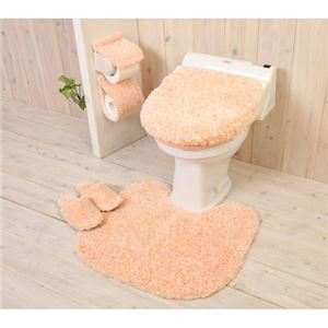 YOKOZUNA toilet seat cover for washing toilet seat candy floss orange
