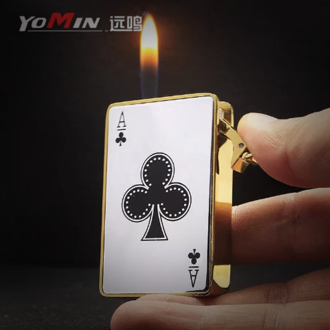 YOMIN Creative Playing Cards Soft Flame Lighter YM-106