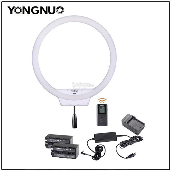 Yongnuo YN608 LED Ring Light 3200K 5500K w RC, Adapter, Batt & Charger