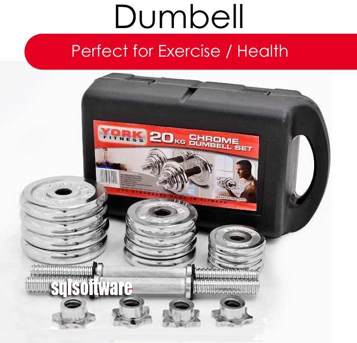 York 30kg Dumbbell Set: York Chrome Dumbell Set Dumbbell 20k (end 8/25/2019 3:15 PM