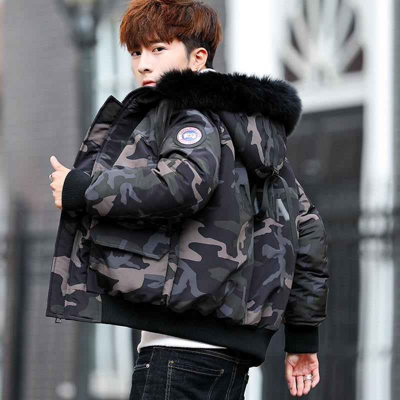 Youngster Men Winter Jacket Hooded Camouflage Autumn Jacket Coat