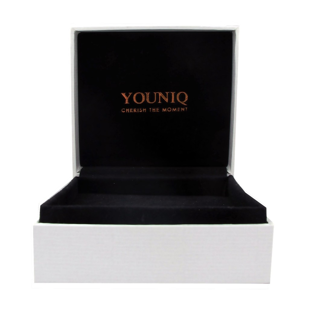 Youniq Cube 925s Silver Necklace Pendant With Cz, Earrings  & Bracelet Set