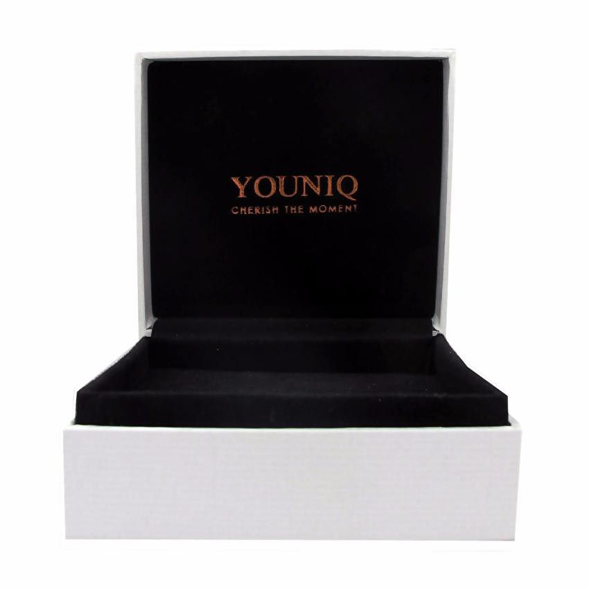 Youniq Double Belt Genuine Leather Bracelet For Men (Black)