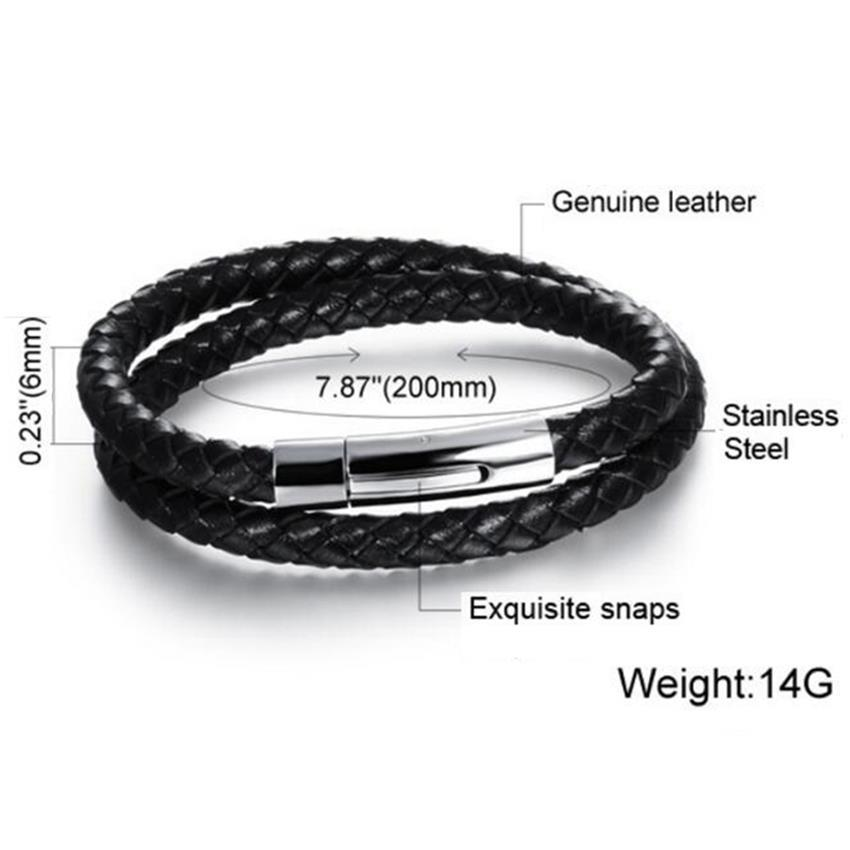 YOUNIQ Duo Big Steel Genuine Leather Bracelet for Men