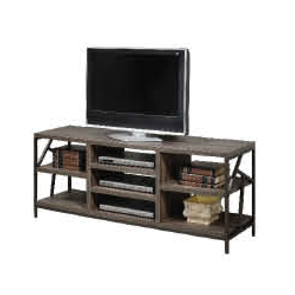 low priced 12bfc 96fd6 YQ CRISTALLO TV cabinet, metal entertainment unit KD, dark brown  [PHL140702] *