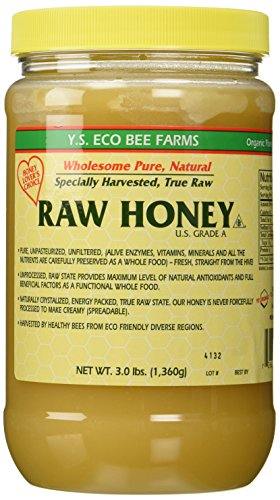 YS Eco Bee Farms RAW HONEY - Raw, Unfiltered, Unpasteurized - Kosher (3 Lb (2