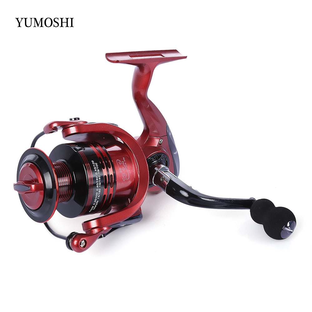 YUMOSHI 13 + 1BB METAL SPINNING REEL FISHING TACKLE WITH FOLDABLE HAND
