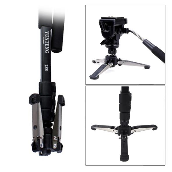 YunTeng VCT-288 Fluid Base Video Monopod with Fluid Head *YT