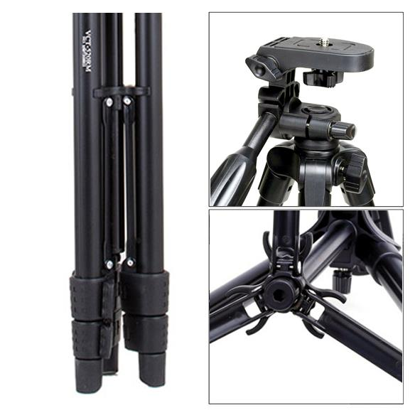 YunTeng VCT-5208 Compact Video Tripod with Smartphone Remote *YT