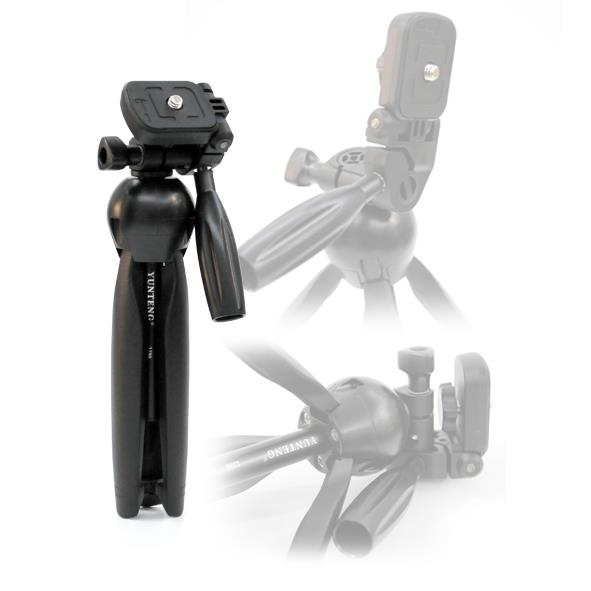 YunTeng YT-2280 Mini Desktop Tripod with SmartPhone and Mic Holder