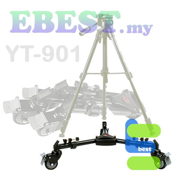 YunTeng YT-901 Universal Pro Tripod Stand Dolly Wheels for Movie Maker